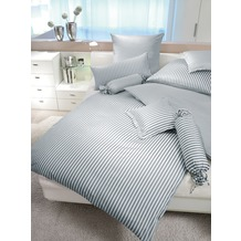 Janine Mako-Satin modernclassic grau Bettbezug 135x200, 80x80