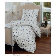 Janine Mako-Soft-Seersucker Tango blau Bettbezug 135x200, 80x80