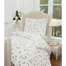 Janine Mako-Soft-Seersucker Tango gelb Bettbezug 135x200, 80x80
