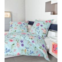 Janine Mako-Soft-Seersucker TANGO multicolor pastellblau 135x200, 80x80