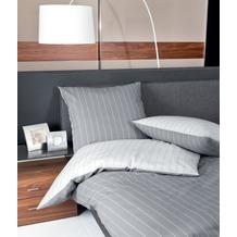 Janine Mako-Soft-Seersucker Tango silber Bettbezug 135x200, 80x80