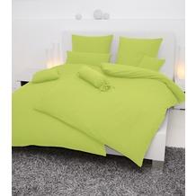Janine Mako-Soft-Seersucker, uni Piano apfelgrün Bettbezug 135x200, 80x80
