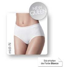 Janira Pack-2 Midi Queen Esencial Panties blanco 2XL