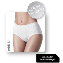 Janira Pack-2 Midi Queen Esencial Panties negro 2XL