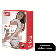 Janira Pack-2 Neri Esencial Panties negro L
