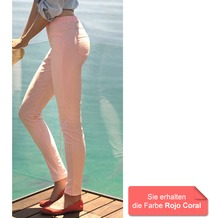 Janira Pant Sk Perfect Fit Summer rojo coral L