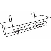 JARDIFER Metall-Balkonkastenhalter 65x22 schwarz