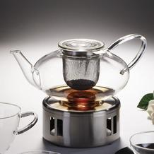 Jenaer Glas Teekanne mit Edelstahlsieb 1,3l Tea Concept