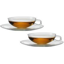 Jenaer Glas Wilhelm Wagenfeld Teetasse mit passender Untertasse 150 ml 2er Set