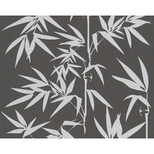 "Jette Mustertapete ""Nature Spirit"", Vliestapete, creme, metallic, schwarz 10,05 m x 0,53 m"