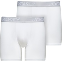 Jockey 3D-Innovations® Boxer Trunk 2Pack, White, L