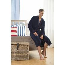 Jockey Bademäntel Bademantel, leicht Frottee, mit Blende, uni und Kontrastpaspel, 2 aufgesetzte Taschen navy S