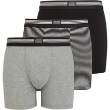 Jockey Boxer Trunk 3er Pack, Schwarz gestreift 2XL