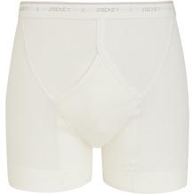 Jockey Classic Cotton Rib MIDWAY - eng anliegende kurze Unterhose white 3XL