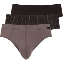 Jockey Cotton + BRIEF/SLIP/SLIP 3PACK grey L