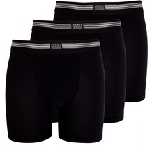 Jockey Cotton Stretch Boxer Trunk, 3er Pack black 2XL