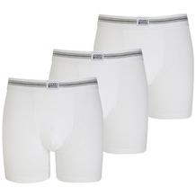Jockey Cotton Stretch Boxer Trunk, 3er Pack white 2XL