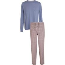 Jockey Langer Schlafanzug Mix, Blau & Rot 98