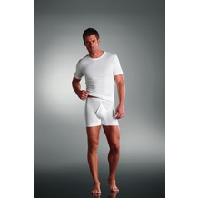 Jockey Luxury Cotton MIDWAY - eng anliegende kurze Unterhose white L