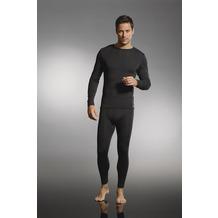Jockey Merino Thermals Shirt mit langem Arm und geradem Schnitt black S