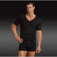 Jockey Microfiber V-Ausschnitt T-Shirt, gerader Schnitt black S
