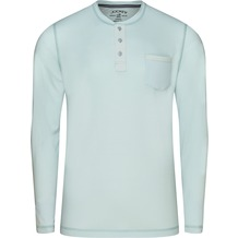 Jockey Night & Day Long Sleeve Henley Shirt illusion blu 102