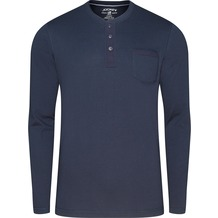 Jockey Night & Day Long Sleeve Henley Shirt navy 102