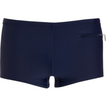 Jockey Swim / Beach Classic Trunk, uni mit kleiner RVS Tasche navy 3XL