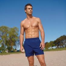 Jockey Swim / Beach Short, uni mit Kontrastkordel, 2 Seitennahttaschen 1 Gesäßtasche, Seitenlänge incl. Bund in Gr. M = 37cm navy S