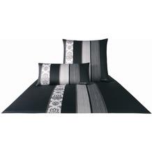 JOOP! Mako-Satin Bettwäsche Ornament Stripe, schwarz Kissenbezug 40x80 cm
