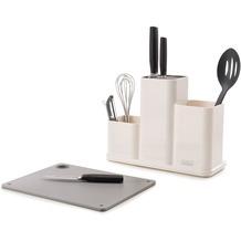 Joseph Joseph CounterStore - Küchenordnungshelfer mit Schneidebrett Weiss