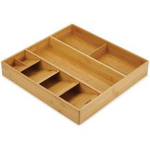 Joseph Joseph DrawerStore™ Bamboo Organizer für Besteck, Küchenhelfer & Kochzubehör - Holz