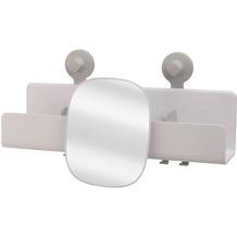 Joseph Joseph EasyStore™ Große Duschablage mit verstellbarem Spiegel - Weiß