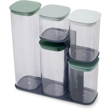 Joseph Joseph Editions Podium™ 5-teiliges Aufbewahrungsbehälter-Set mit Ständer - Salbei