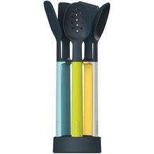 Joseph Joseph Elevate Silicone - 5-teiliges Küchenhelfer-Set mit ultrakompaktem Aufbewahrungsständer