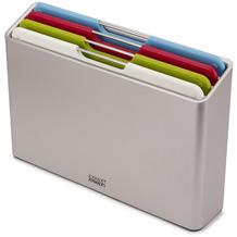Joseph Joseph Folio™ 4-teiliges Set farblich gekennzeichneter Schneidebretter mit Aufsteller (Normal) - Silber