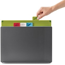 Joseph Joseph Index Large Graphite 4-teiliges Schneidebretter-Set