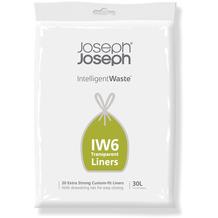 Joseph Joseph IW6 30-Liter-Müllbeute transparent für Totem Max & Totem Pop 60L (20er-Packung)