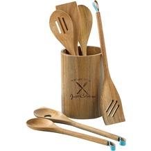Esmeyer  Küchenhelfer Set PEPE inkl. Köcher (Durchmesser ca. 12,7 cm, H ca. 17,8 cm.) aus Akazienholz