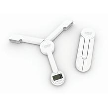 Joseph Joseph TriScale - Kompakte faltbare digitale Waage - Weiß