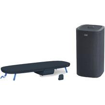 Joseph Joseph Wäscheset Pocket™ Plus Tischbügelbrett mit Tota™ 60-Liter Wäschekorb - Schwarz/Blau