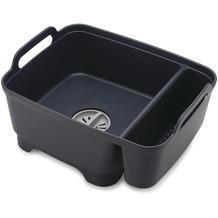 Joseph Joseph Wash&Drain Store - Spülschüssel mit Stöpsel und Aufbewahrungsfach - Grau