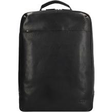 Jost Malmö Businessrucksack Leder 44 cm Laptopfach schwarz