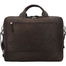 Jost Narvik Aktentasche Leder 41 cm Laptopfach brown
