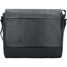 Jost Stockholm Aktentasche Leder 38 cm Laptopfach black