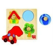 Jumbo Spiele D53015 - Holzpuzzle: Zu Hause