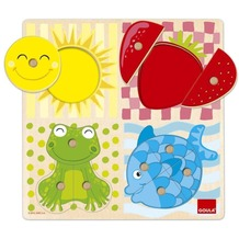 Jumbo Spiele D53110 - Holzpuzzle - 4 Farben