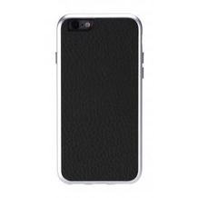 Just Mobile Alu Frame Leather für iPhone 6 - schwarz