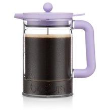 Bodum BEAN Eiskaffeebereiter mit Verriegelungsdeckel und zusätzlichem Deckel, 1.5 l, 12 Tassen verbena