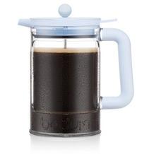 Bodum BEAN Eiskaffeebereiter mit Verriegelungsdeckel und zusätzlichem Deckel, 1.5 l, 12 Tassen blue moon